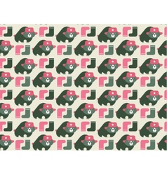 Rusian bear seamless pattern vector