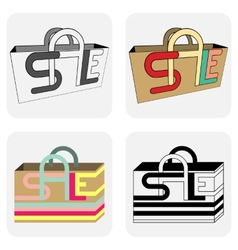 Sale bags for shopping vector