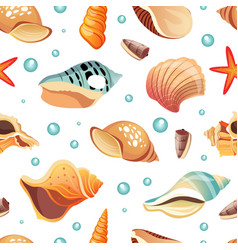 sea shells seamless pattern summertime design vector image