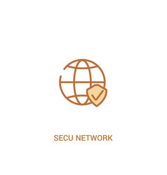 secu network concept 2 colored icon simple line vector image