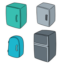 set of refrigerator vector image