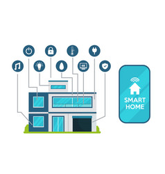 smart home concept flat icon vector image