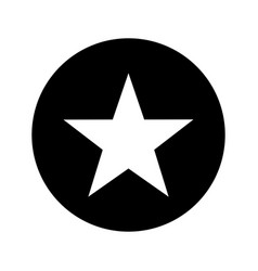 Star silhouette isolated icon vector