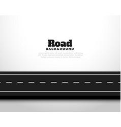straight horizontal asphalt street road pathway vector image