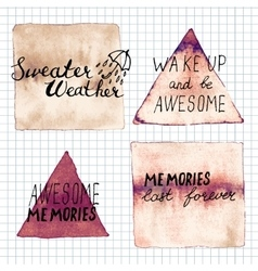 Sweater weather awesome memories memories last vector image