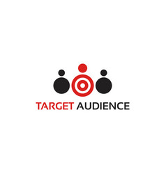 Target audience logo template designs vector