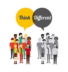 Think diferent design vector