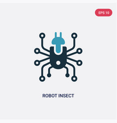 Two color robot insect icon from technology vector
