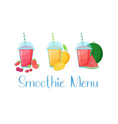 vegeterian smoothie shake cocktail collection vector image