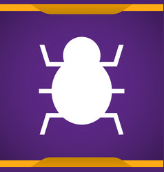 Virus bug icon for web and mobile vector
