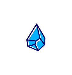 Water stone drop logo icon vector