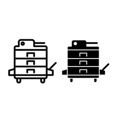 Xerox line and glyph icon copier vector