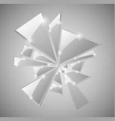 broken glass shards vector image