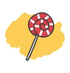 Cartoon doodle lollipop vector image vector image
