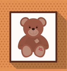 cute teddy bear baby shower vector image vector image