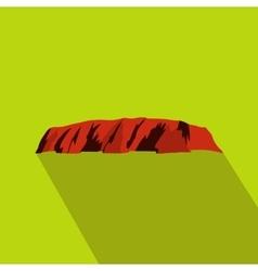 Majestic Uluru icon flat style vector image