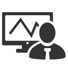 online trader flat icon vector image
