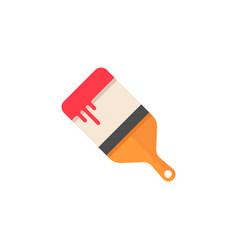 paint brush flat icon build repair elements vector image