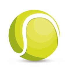 tennis ball icon design vector image vector image