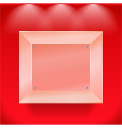 Transparent glass showcase vector image vector image