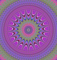 Abstract oriental fractal mandala background vector image vector image