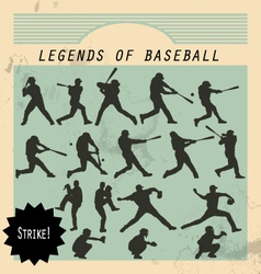Ballplayer - silhouettes of baseball players on vector image vector image