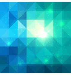 Bright abstract triangles blue background vector image vector image
