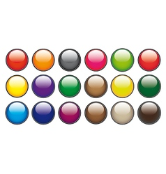 Color circle buttons vector image vector image