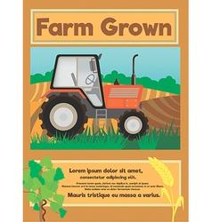 Farm grown vector image vector image