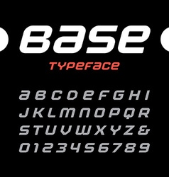 Rounded italic sport font alphabet with latin vector image