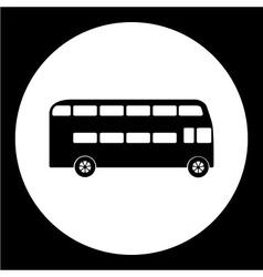 Simple double decker bus public transpor icon vector