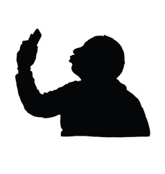 man silhouette with mobile phone design vector image