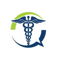 medical talk vector image vector image