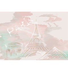 paris abstract skyline vector image