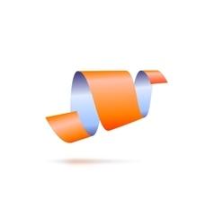 Abstract icon ribbon sign vector image vector image