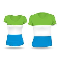 Flag shirt design of Sierra Leone vector image vector image