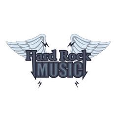 hard rock music icon cartoon style vector image