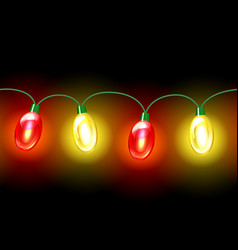 MultiColored lamp festive garland Seamless vector image vector image