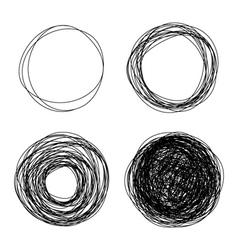 pencil drawn circles vector image vector image