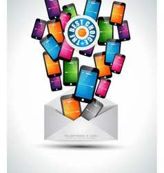 Phone email vector image vector image