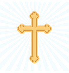 religion cross flat icon vector image
