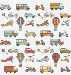 transport kids seamless pattern vector image