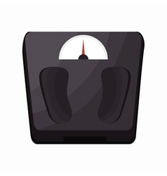weight scale fitness sport vector image