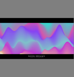 abstract neon dreams background trendy vector image