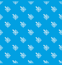 arrow target pattern seamless blue vector image