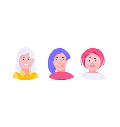 avatars women set vector image