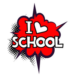 back to school in comic speech bubbles vector image