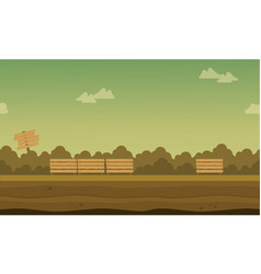 Background game on garden landscape vector
