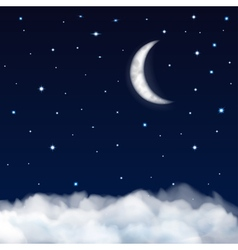 Background of night sky vector