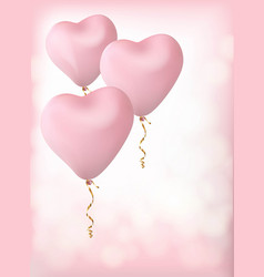 balloons in the form of a heart vector image